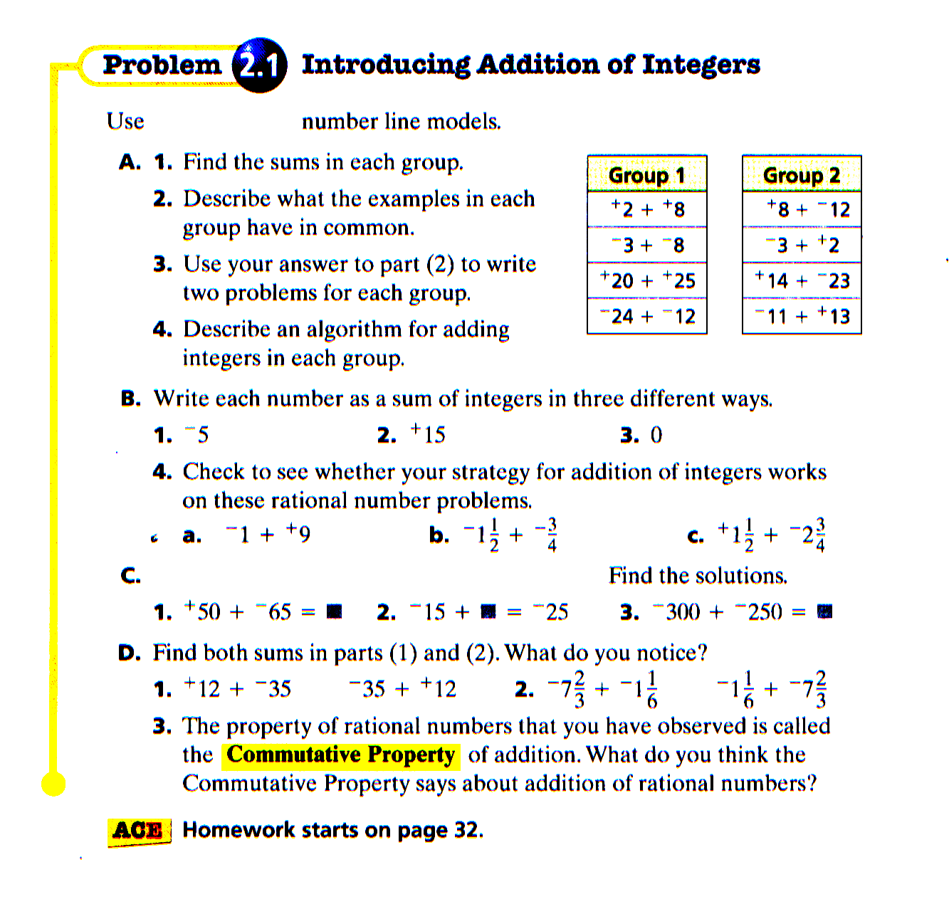 Mr. Dreyer's--sob--former Classes at the Edwards education, learning, worksheets for teachers, math worksheets, and free worksheets Integer Worksheet Grade 7 1277 x 1333